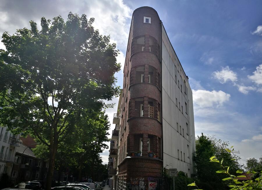 fassade eimsbuettel architektur fotografie hamburg abendfarben tom koehler