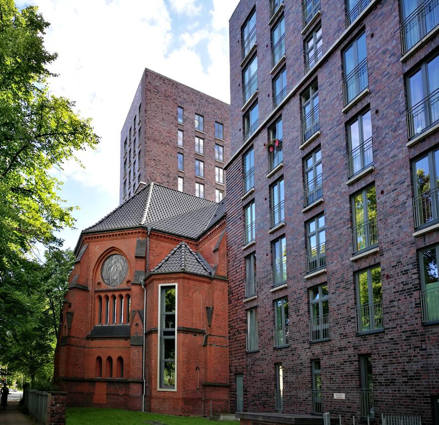 heiligengeistkirche barmbek wohnhaus architekturfotografie hamburg tom koehler